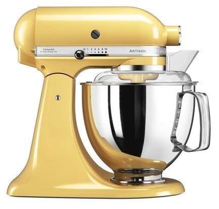 KitchenAid Миксер планетарный Artisan (4.8 л), желтый kitchenaid набор круглых чаш для запекания смешивания 1 4 л 1 9 л 2 8 л 3 шт кремовые
