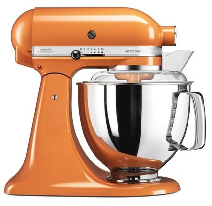 KitchenAid Миксер планетарный Artisan (4.8 л), мандариновый kitchenaid набор круглых чаш для запекания смешивания 1 4 л 1 9 л 2 8 л 3 шт кремовые