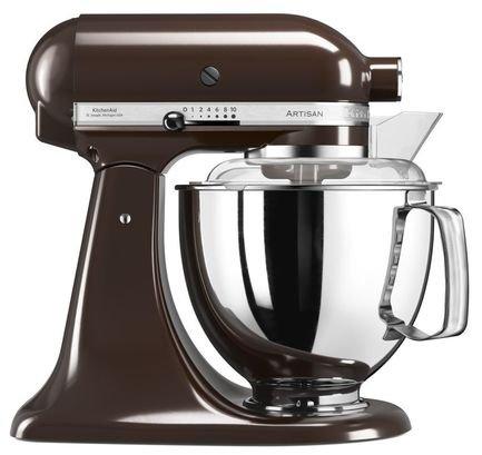 KitchenAid Миксер планетарный Artisan (4.8 л), эспрессо kitchenaid набор круглых чаш для запекания смешивания 1 4 л 1 9 л 2 8 л 3 шт кремовые