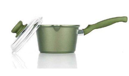 Risoli Ковш Dr.Green Induction, 16 см, со стеклянной крышкой ковш risoli dr green extra induction с крышкой 16 см