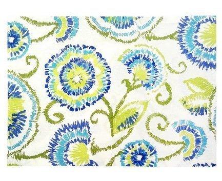 "Apolena Дорожка на стол ""Sabrina blue"", 40х140 см, хлопок, синяя P798-1823/1"