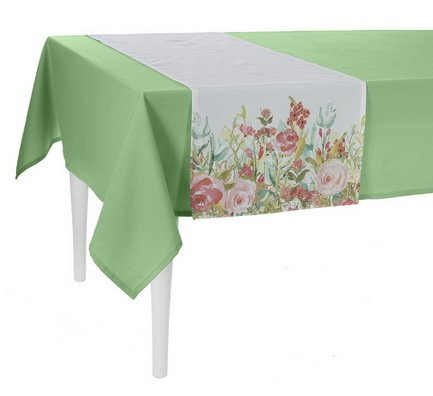 "Apolena Дорожка на стол ""Sweet home"", 40х140 см, полухлопок, розовая P515-8363/2"