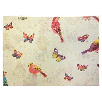 """Скатерть с рисунком """"Pajaros"""", 170х220 см, хлопок, оранжевая"""