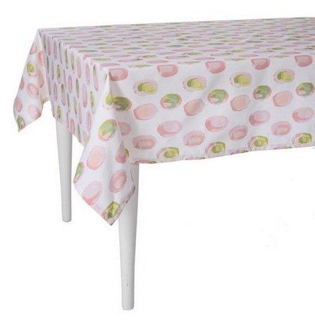 """Скатерть с рисунком """"Sweet home"""", 140х220 см, полухлопок, розовая"""