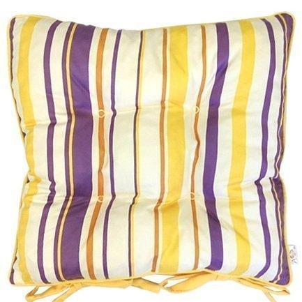 Apolena Подушка на стул Загадочные фиалки, 45х45 см фиалки абсолют habibi