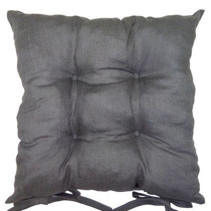 """Подушка на стул """"Gray"""", 41х41 см, серая, полухлопок от Superposuda"""
