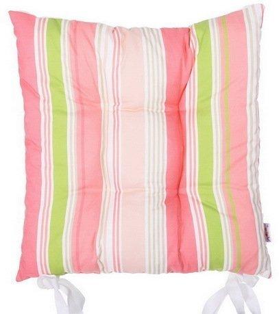 Apolena Подушка на стул Flamingo line, 41х41 см, розовая, полухлопок apolena