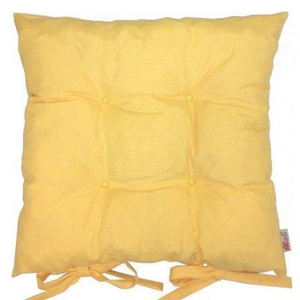 Однотонная подушка на стул Лючия, 41х41 см, хлопок, желтая P705-Z136/1 Apolena подушка на стул винмаль p405 1713 1 41х41 см