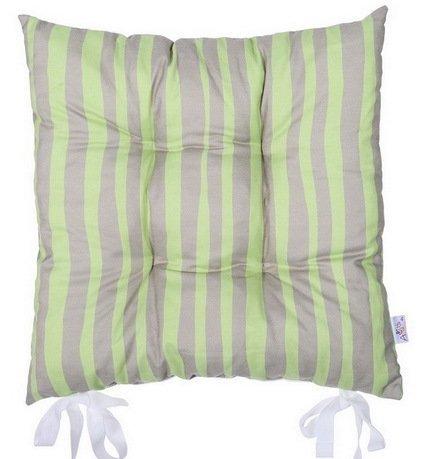 "Подушка на стул ""Olive fest"", 41х41 см, светло-серая, полухлопок"