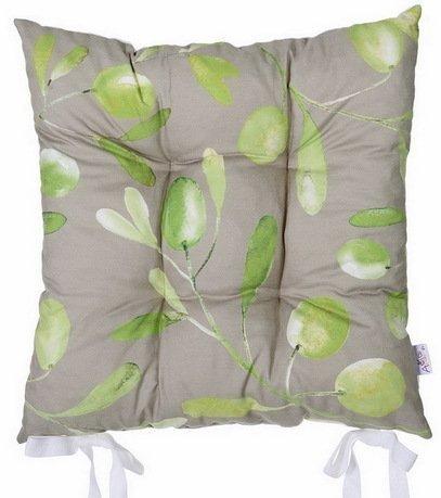 """Подушка на стул """"Olive fest"""", 41х41 см, серая, полухлопок"""