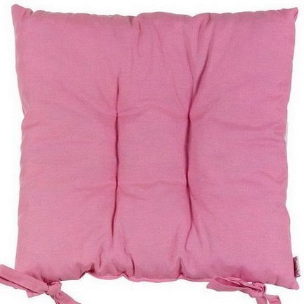 Apolena Однотонная подушка на стул Роза, 41х41 см, хлопок, розовая apolena