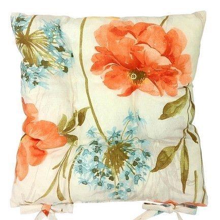 Apolena Подушка на стул Коломбина, 41х41см, хлопок, оранжевая P705-1801/1 Apolena подушка на стул арти м райский сад