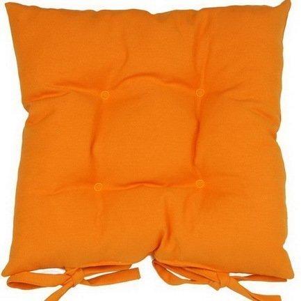 Однотонная подушка на стул Оранж, 41х41 см, хлопок, оранжевая P705-Z122/1 Apolena apolena чехол для декоративной подушки бамбук 43х43 см бежевый 702 8323 3 apolena