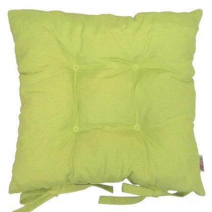 Однотонная подушка на стул Фисташио, 41х41см, хлопок, салатовая P705-Z140/1 Apolena