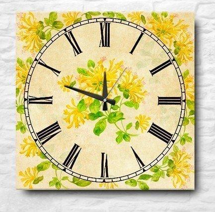Настенные часы Yellow flowers, 40x40 см P712-7665/1 Apolena