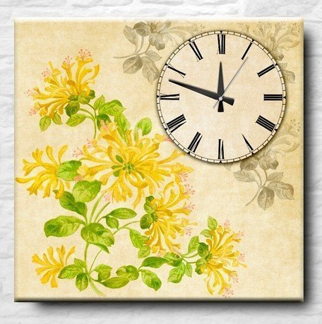 Apolena Настенные часы Yellow flowers, 40x40 см P712-7666/1 Apolena tasco 40x40