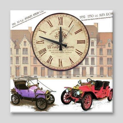 """Apolena Настенные часы """"Ретромобили"""", 40x40 см P12-9712/1"""