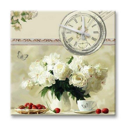 """Apolena Настенные часы """"Цветущий сад"""", 40x40 см P12-9644/1"""