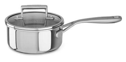 KitchenAid Сотейник с крышкой и длинной ручкой, 16 см KC2T15PLST KitchenAid kitchenaid кастрюля для соуса 1 42 л 16 см 3 х слойная kc2t15ehst kitchenaid
