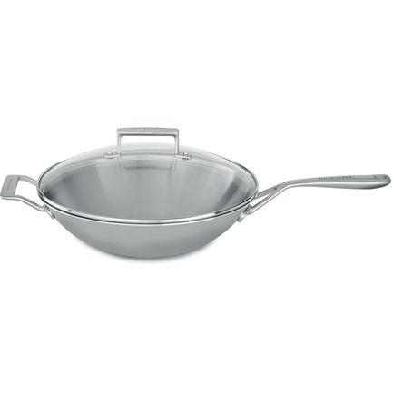 все цены на KitchenAid Сковорода-ВОК, 33 см, со стеклянной крышкой онлайн