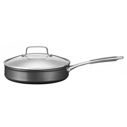 KitchenAid Сотейник низкий анодизированный, 24 см, с крышкой KC2H130ELKD KitchenAid чайник kitchenaid 5kek1722eac