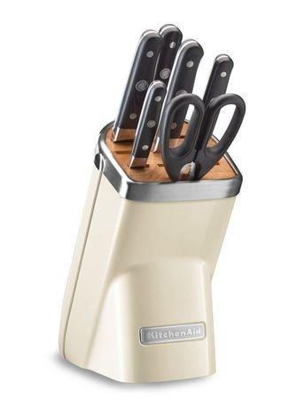 KitchenAid Набор ножей, 7 пр., кремовый KKFMA07AC KitchenAid kitchenaid kblr04nsac набор из 4 керамических кастрюль для запекания cream