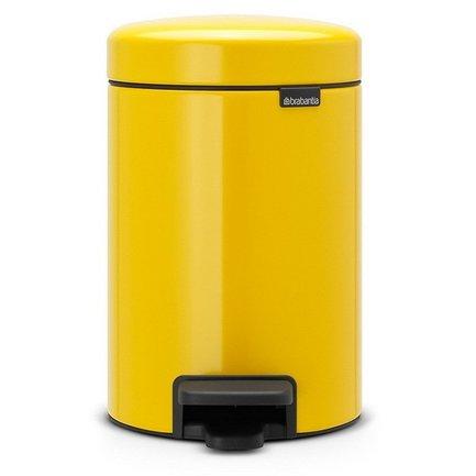 Brabantia Мусорный бак с педалью newIcon (3 л), 26.4х17х23.5 см, желтая brabantia мусорный бак с педалью newicon 30 л 67 5х30х34 см серый металлик