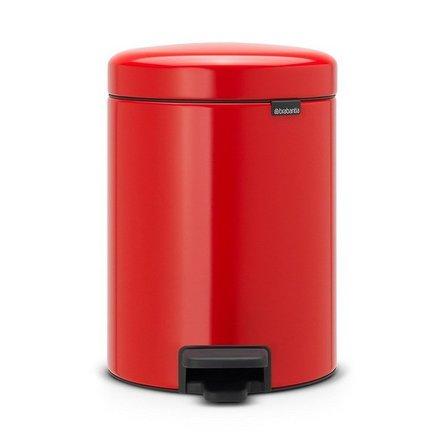 Brabantia Мусорный бак с педалью newIcon (5 л), 29.2х20.6х26.6 см, красный brabantia мусорный бак с педалью newicon 5 л 29 2х20 6х26 6 см серый металлик