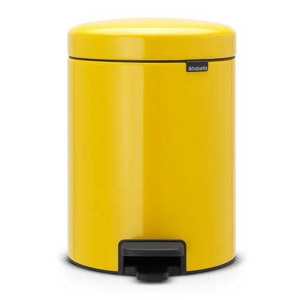 Brabantia Мусорный бак с педалью newIcon (5 л), 29.2х20.6х26.6 см, желтая маргаритка brabantia мусорный бак с педалью newicon 3 л 26 4х17х23 5 см чайная роза