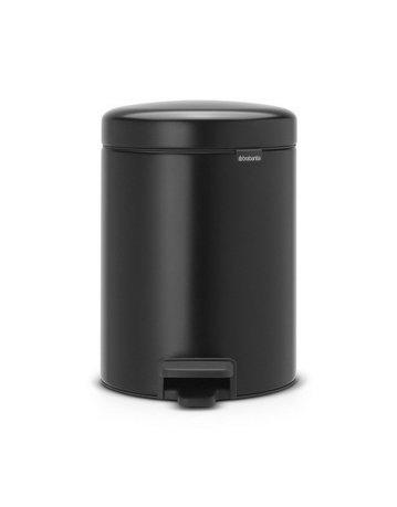 Brabantia Мусорный бак с педалью newIcon (5 л), 29.2х20.6х26.6 см, черный матовый контейнер пищевой вакуумный bekker koch прямоугольный 1 1 л