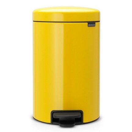 Brabantia Мусорный бак с педалью newIcon (12л), 40х24х32.5см, желтый brabantia мусорный бак с педалью newicon 3 л 26 4х17х23 5 см мятный металлик