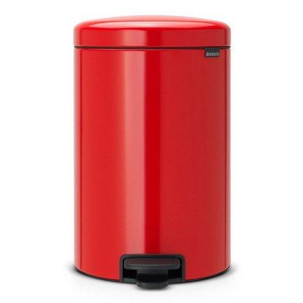 Brabantia Мусорный бак с педалью newIcon (20 л), 46х29х33.5 см, пламенно-красный brabantia мусорный бак с педалью 20 л
