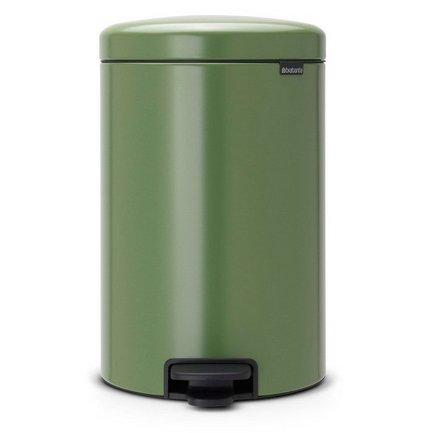 Brabantia Мусорный бак с педалью newIcon (20 л), 46х29х33.5 см, зеленый мох brabantia мусорный бак с педалью newicon 3 л 26 4х17х23 5 см мятный металлик