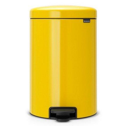 Brabantia Мусорный бак с педалью newIcon (20 л), 46х29х33.5 см, желтая маргаритка
