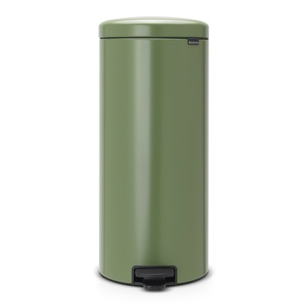 Brabantia Мусорный бак с педалью newIcon (30 л), 67.5х30х34 см, зеленый мох brabantia мусорный бак с педалью 30 л fb