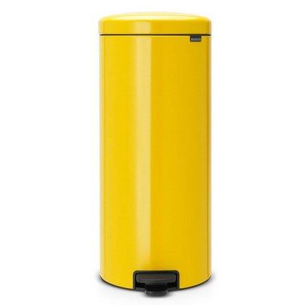 Мусорный бак с педалью newIcon (30л), 67.5х30х34см, желтый 114342 Brabantia