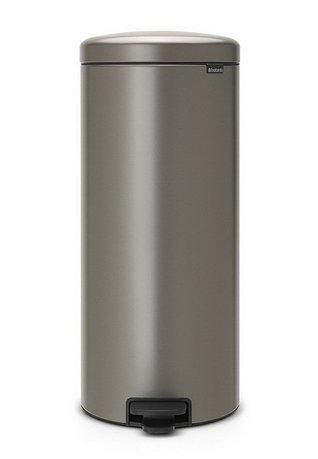 Brabantia Мусорный бак с педалью newIcon (30 л), 67.5х30х34 см, платиновый 114441 Brabantia brabantia мусорный бак с педалью newicon 3 л 26 4х17х23 5 см чайная роза
