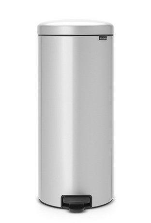 Brabantia Мусорный бак с педалью newIcon (30л) 67.5х30х34см, серый металлик brabantia мусорный бак с педалью newicon 5 л 29 2х20 6х26 6 см серый металлик