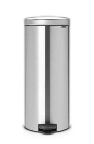 Brabantia Мусорный бак с педалью newIcon (30л), 67.5х30х34см, стальной 114786 Brabantia бак мусорный brabantia newicon с педалью цвет серый металлик 12 л 113680