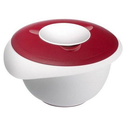 Westmark Миска длясмешивания с 2-мя крышками (2.5л), 24.5х22.5см, красная 3153227R Westmark westmark емкость для салата олимпия с крышкой 2 5 л 21 см красная 2414221r westmark