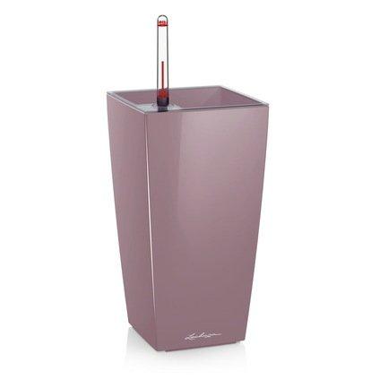 Lechuza Кашпо Макси-Куби, 14х14х26 см, фиолетовое-пастельное, с системой автополива и съемным горшком