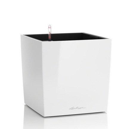 Lechuza Кашпо Кьюб 30, белое, с системой полива 16460