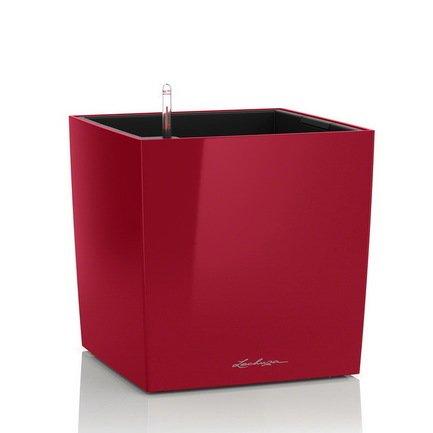 Lechuza Кашпо Кьюб 40, красное блестящее, с системой полива 16367 Lechuza lechuza кашпо каскада колор с системой полива