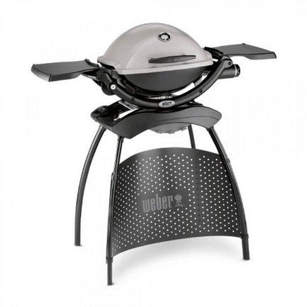 Weber Гриль газовый Q 1200 на подставке, серый 51120375 Weber кухонные весы soehnle page compact 100 черный