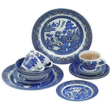 Набор столовой посуды Голубая ива на 4 персоны, 20 пр. WBMB20C 4 Churchill churchill набор подставок под чайные пакетики 4 пр 10х10 см hidw01571 churchill