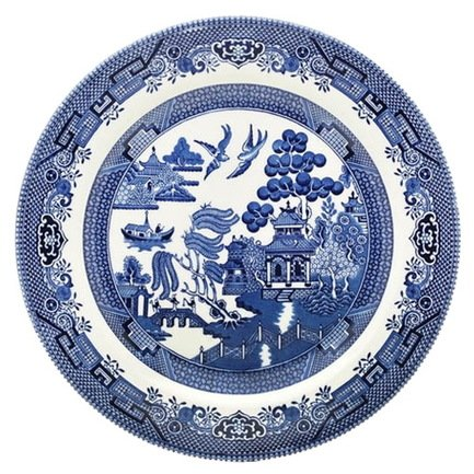 "Тарелка столовая ""Голубая ива"", 26 см"
