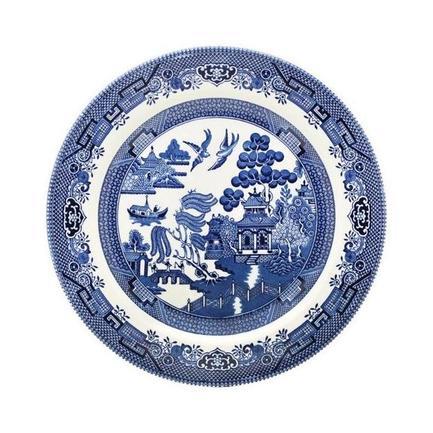 Churchill Тарелка десертная Голубая ива, 20 см тарелка десертная цветочный карнавал тёмная 1063511