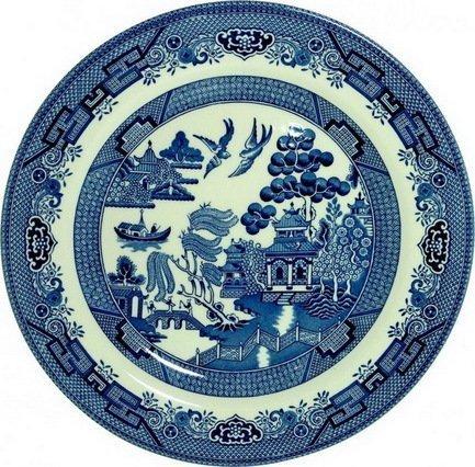 Churchill Тарелка десертная Голубая ива, 17см