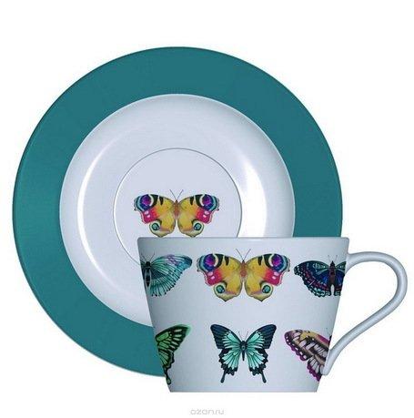 Кофейный набор Бабочки, на 2 персоны, 4 пр. HARL00351 Churchill