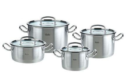 Fissler Набор кастрюль Профи, 4 пр. 8412604 Fissler kitchenaid kblr04nsac набор из 4 керамических кастрюль для запекания cream